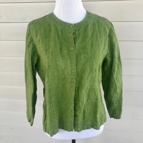 Eileen Fisher Jackets & Blazers - Eileen Fisher Linen Shirt Jacket Button Down